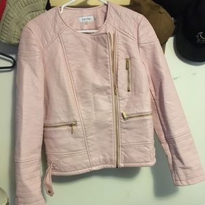 Calvin Klein leather jacket never worn